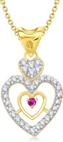 VK Jewels Pretty Heart Shape 18K Yellow Gold Plated Cubic Zirconia Alloy Pendant