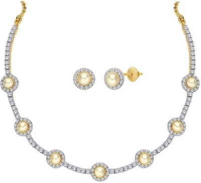 Alloy Mgold Alloy Jewel Set (Multicolor)