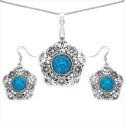 Delhi Bazaar Brass Jewel Set - Blue
