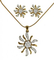 DG Jewels Bollywood Pretty Pendant-CPS8103 Alloy Jewel Set White