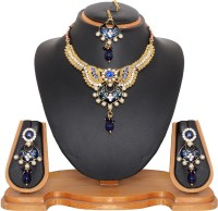 Vendee Fashion Imitation Costume Alloy Jewel Set Blue