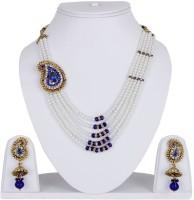 Styylo Fashion Alloy Jewel Set Blue, White, Gold, Multicolor