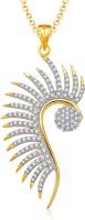 Meenaz Exclusive Mayur Pendant Gold & Rhodium Alloy Pendant