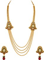 Voylla Alloy Jewel Set Gold