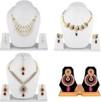 Styylo Fashion Alloy Jewel Set White, Blue, Pink, Maroon, Gold, Multicolor