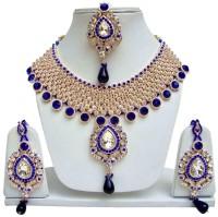 Styylo Fashion Alloy Jewel Set Blue