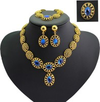Magideal Alloy Jewel Set Gold, Blue