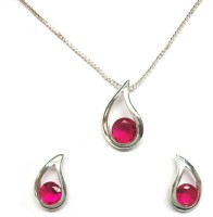 Sempre Of London Ruby Daisy Alloy Jewel Set Silver