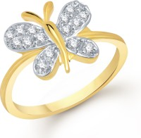 VK Jewels VK Jewels Butterfly Gold And Rhodium Plated Ring Alloy Cubic Zirconia 18K Yellow Gold Ring