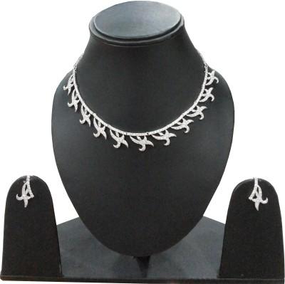 Alloy Vijay Laxmi Jewels Alloy Jewel Set (White)
