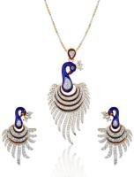 Mgold Designer Pendant Set Alloy, Copper Jewel Set White - JWSEYTP9EJV5DSJK