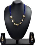 Akshada Creation Gold Antique Finish Alloy Jewel Set Blue, White