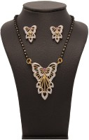 Vendee Fashion Fashion Brass Jewel Set Gold, Silver, Black