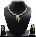 Zaveri Pearls Beautiful Designer Austrian Diamond Alloy Jewel Set - White