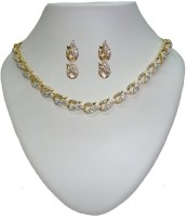 Sempre Of London Cynthia Necklace Set Alloy Jewel Set Gold