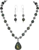 Pearlz Ocean Labradorite With Pear Shape Pendant Alloy Jewel Set Multicolor