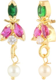 Archi Collection Colour Spark Cubic Zirconia Alloy Drop Earring