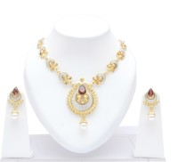 Neelam Ethinic Antique Tone Alloy Jewel Set Gold, Platinum