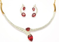 Sempre Of London Ruby Sparkle Alloy Jewel Set Silver, Gold