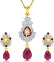 Sukkhi Divine Kundan Alloy Jewel Set (White, Gold)