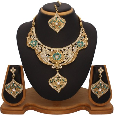 Vendee Fashion Party Wear Designer Alloy Jewel Set Multicolor