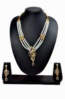 Akshada Creation Gold Antique Finish Alloy Jewel Set Blue