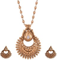 Ganapathy Gems 1 Gram Gold Plated Copper Jewel Set Gold