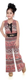 Hunny Bunny Printed Girl's Jumpsuit