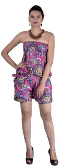 Indi Bargain Geometric Print Women's Jumpsuit - JUME5N98WZ7629WT