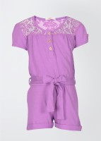 Fox Solid Girl's Jumpsuit