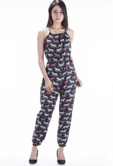 Peppermint Blues Animal Print Women's Jumpsuit
