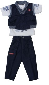 Romano Solid Baby Boy's Jumpsuit
