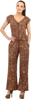 Cottinfab Animal Print Women's Jumpsuit