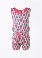 FS Mini Klub Printed Girl's Baby Girl's Jumpsuit