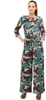 Cottinfab Floral Print Women's Jumpsuit - JUME344HRNGWCFPF