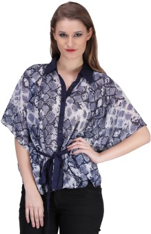 Sierra Animal Print Poly Georgette Women's Kaftan