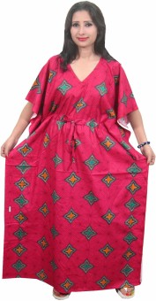 Indiatrendzs Printed Cotton Women's Kaftan