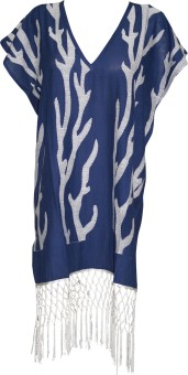 Indiatrendzs Embroidered Cotton Women's Kaftan