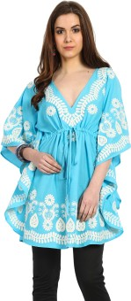 Global Colours Embroidered Cotton Women's Kaftan