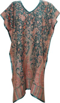 Indiatrendzs Printed Wool Women's Kaftan