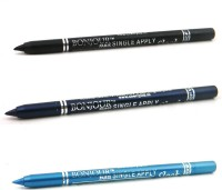 Bonjour Paris Single Apply 1507201608 Black-Navy Blue-Sky Blue Kajal 3.6 G (Black, Navy Blue, Sky Blue)