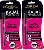 Loreal Paris Magique Kajal Pack Of 2 0.35 G (Black)