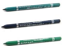 Bonjour Paris Single Apply 08072016124 Green-Navy Blue-Green Kajal 3.6 G (Green, Navy Blue, Green)