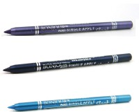 Bonjour Paris Single Apply 1507201617 Cool Purple-Navy Blue-Sky Blue Kajal 3.6 G (Cool Purple, Navy Blue, Sky Blue)