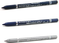 Bonjour Paris Single Apply 1507201669 Navy Blue-Party Blue-Silver Kajal 3.6 G (Navy Blue, Party Blue, Silver)