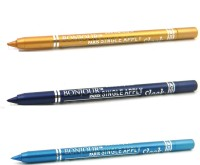 Bonjour Paris Single Apply 1507201647 Golden-Party Blue-Sky Blue Kajal 3.6 G (Golden, Party Blue, Sky Blue)