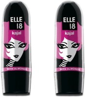 Elle 18 Kajal, (Pack Of 2 ) 3 Ml (Black)