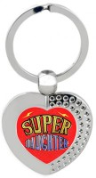 SKY TRENDS Super Daughter Heart Metal Key Chain