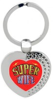SKY TRENDS Super Wife Heart Metal Key Chain