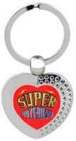 SKY TRENDS Super Boyfriend Heart Metal Key Chain